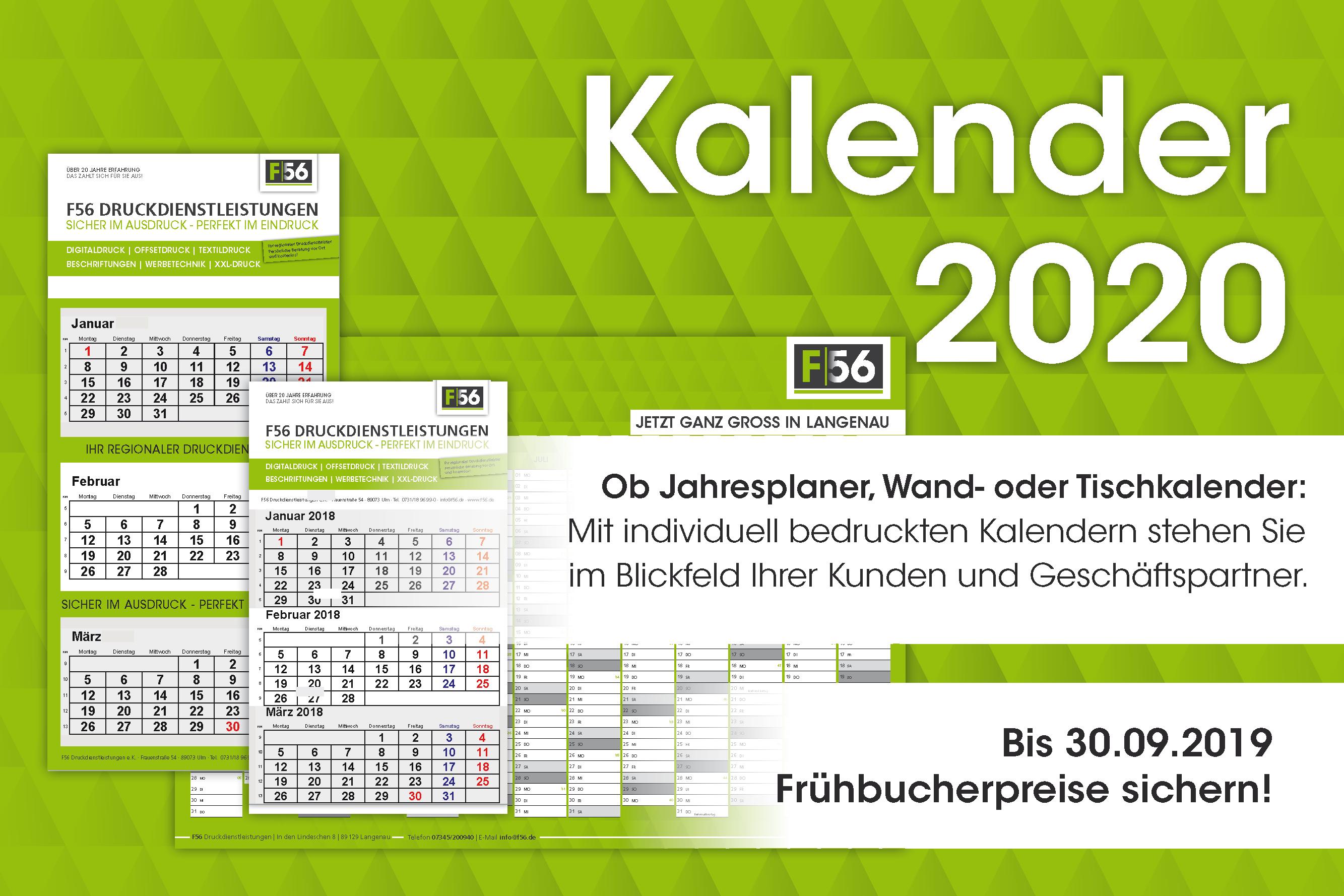 Kalender header 2019